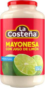 Mayonesa con jugo de limón reducida en grasa