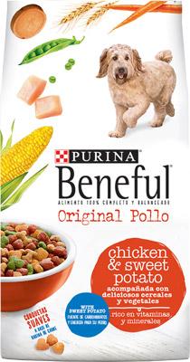 Comida para perros adultos sabor pollo y camote