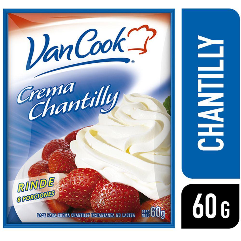 Crema chantilly instantánea no láctea Sobre 60 grs.