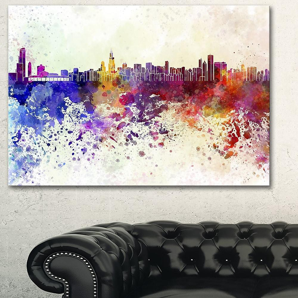 Chicago Skyline Cityscape Metal Wall