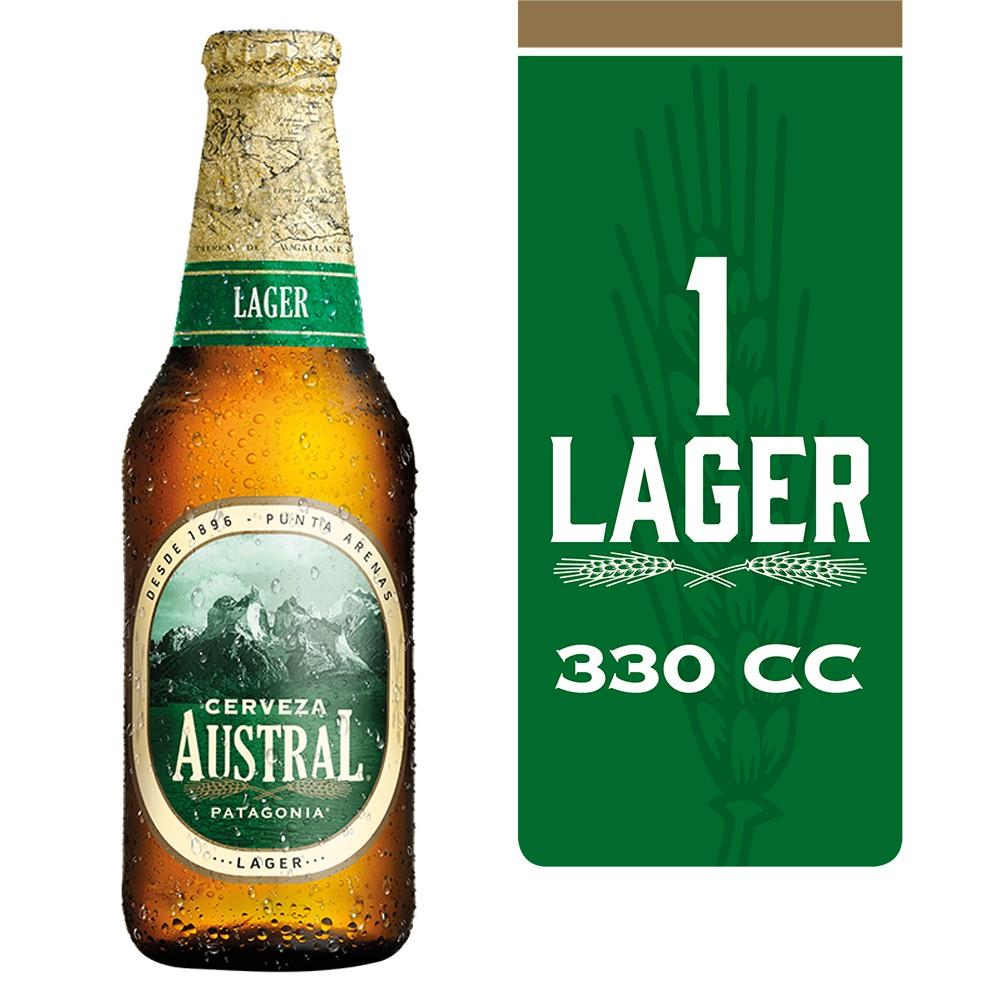 Cerveza lager Botella 330 ml
