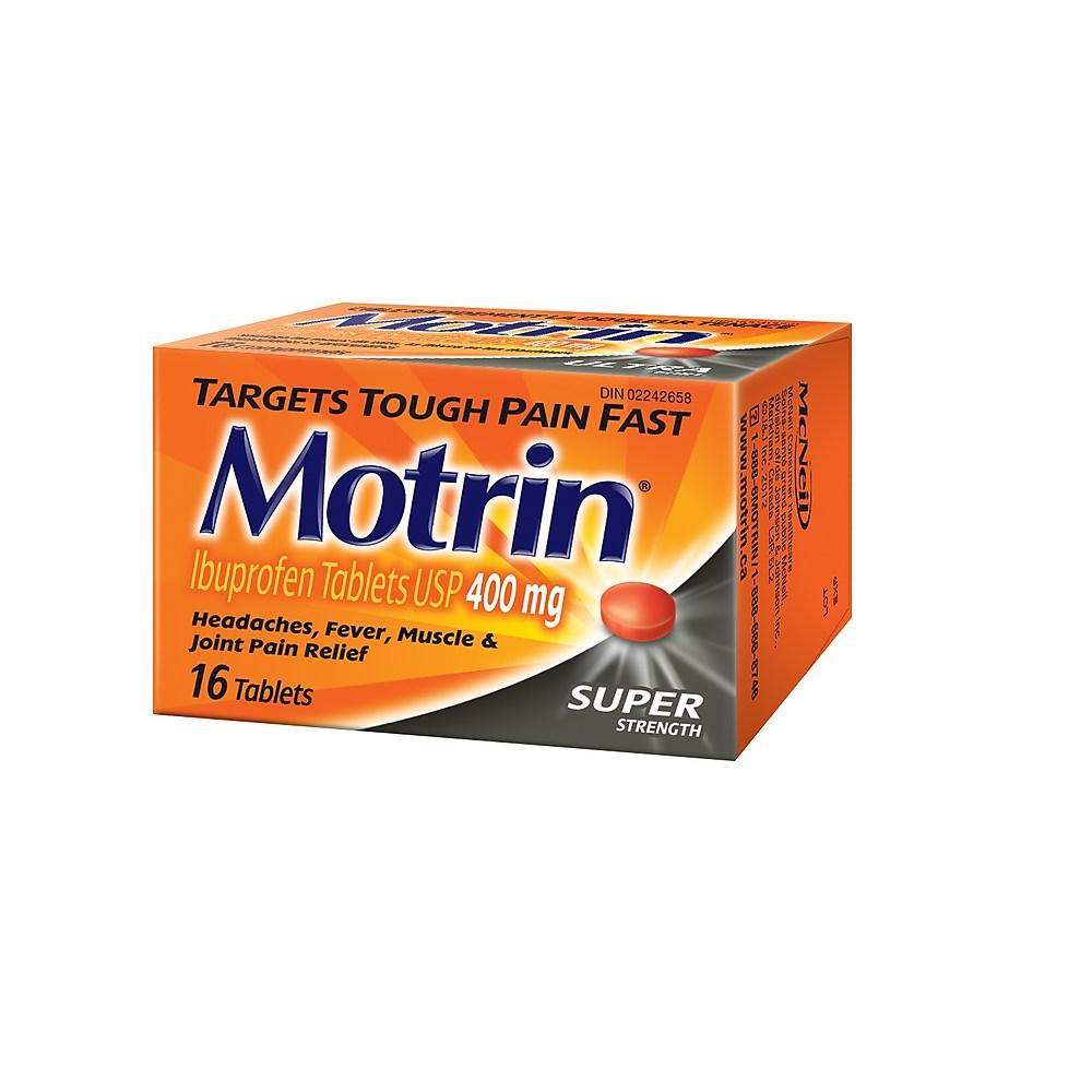 MOTRIN 400 mg Tablets, Super Strength, 16/Pack