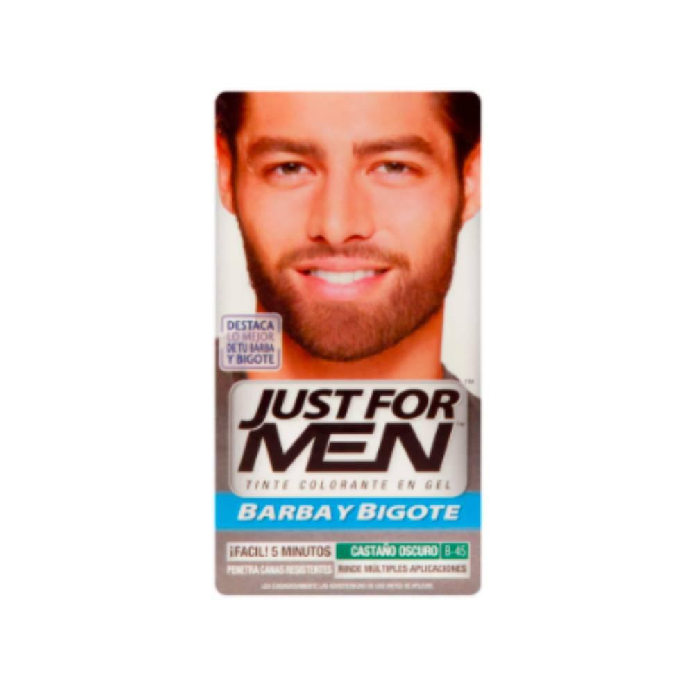 Tinta colorante en gel para bigote y barba castaño oscuro