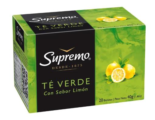 Té verde con limón 20 unidades