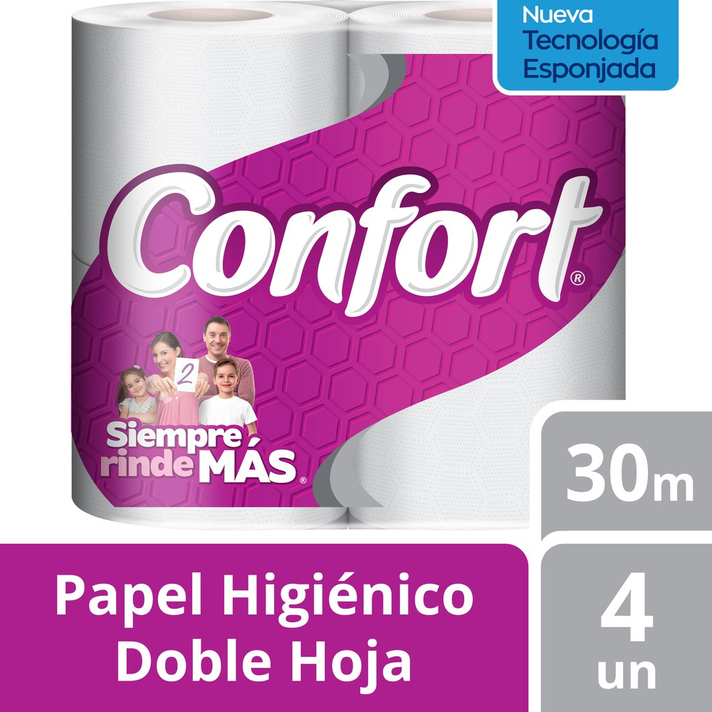 Papel higiénico normal doble hoja