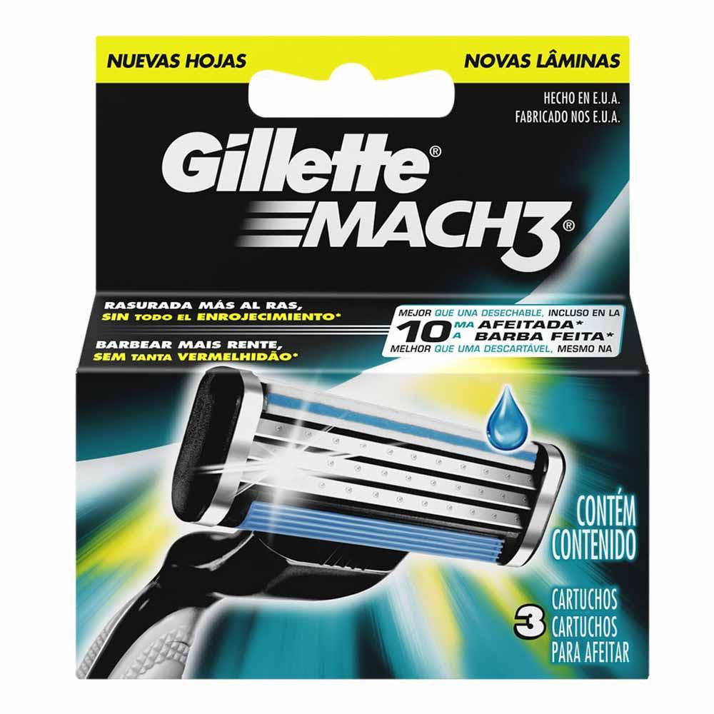 Repuesto para Máquina de Afeitar GILLETE Mach 3 Caja 3un