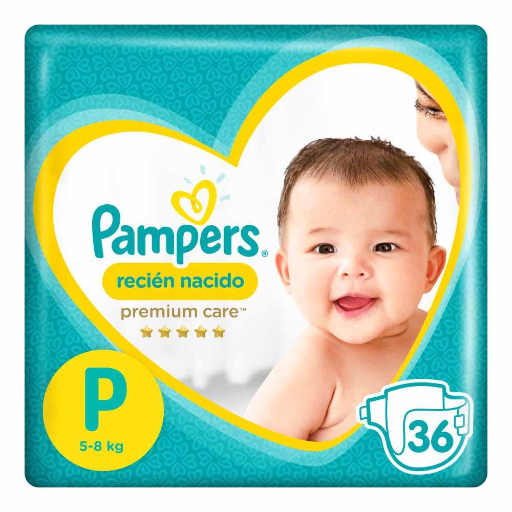 Pañal para bebé Recién Nacido Premium Care Talla P Paquete 36un