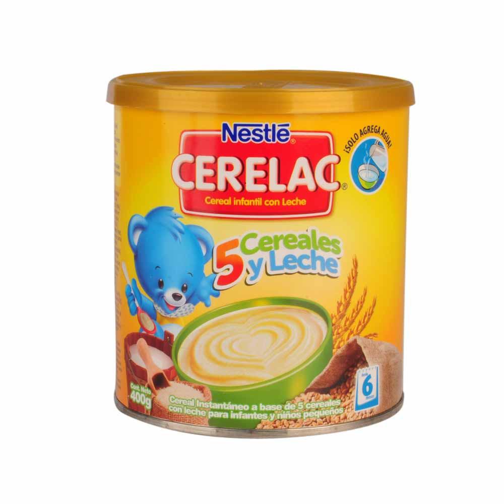 Cereal infantil Cerelac 5 Probióticos cereales Lata 400Gr