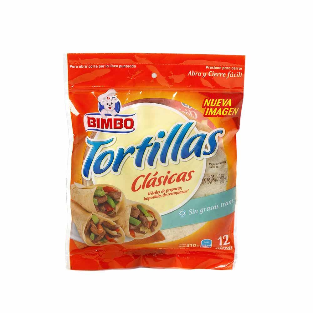 Tortillas Clásicas Bolsa 12un