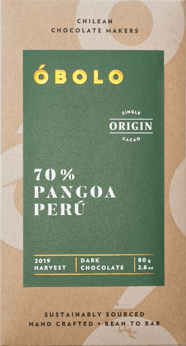 Barra Chocolate Vegano 70% Cacao Pangoa Perú Dark Chocolate Barra 80 g