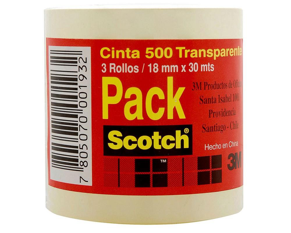 Pack cinta adhesiva 500 3 un