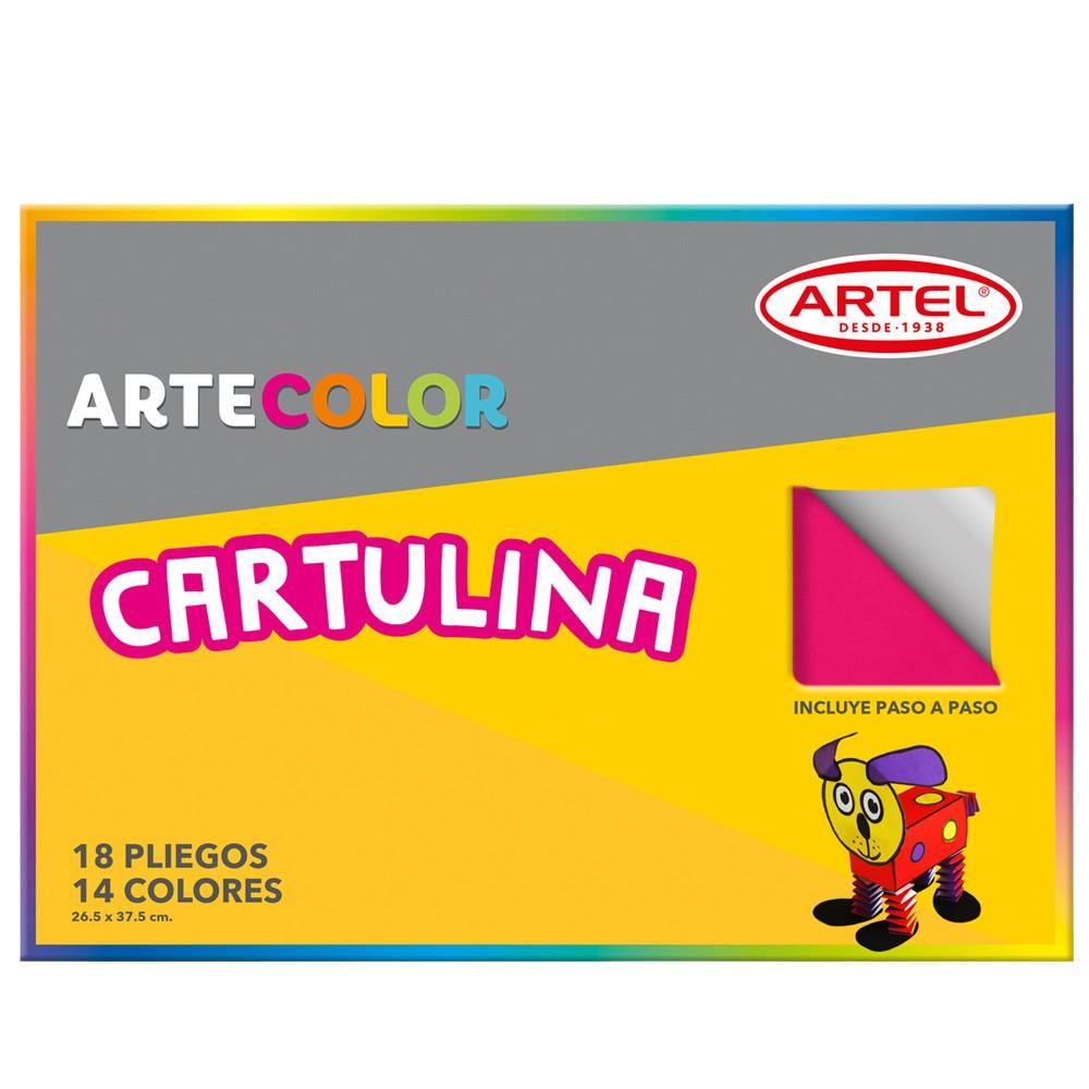 Cartulina de colores 18 pliegos