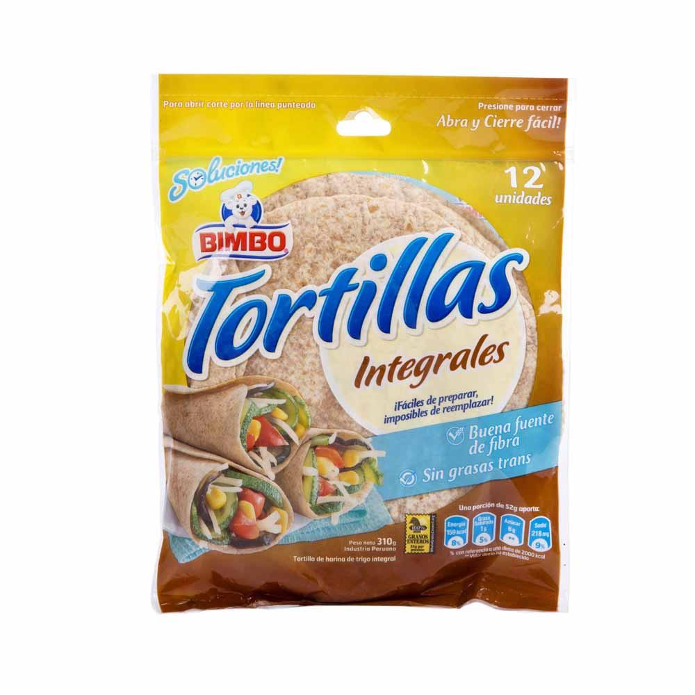 Tortillas Integales Bolsa 310g