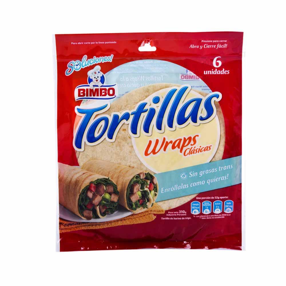 Tortillas Wraps Clásicas Bolsa 310g