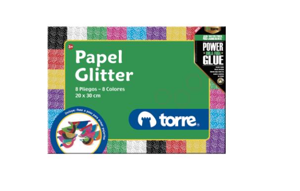 Bolsón papel glitter
