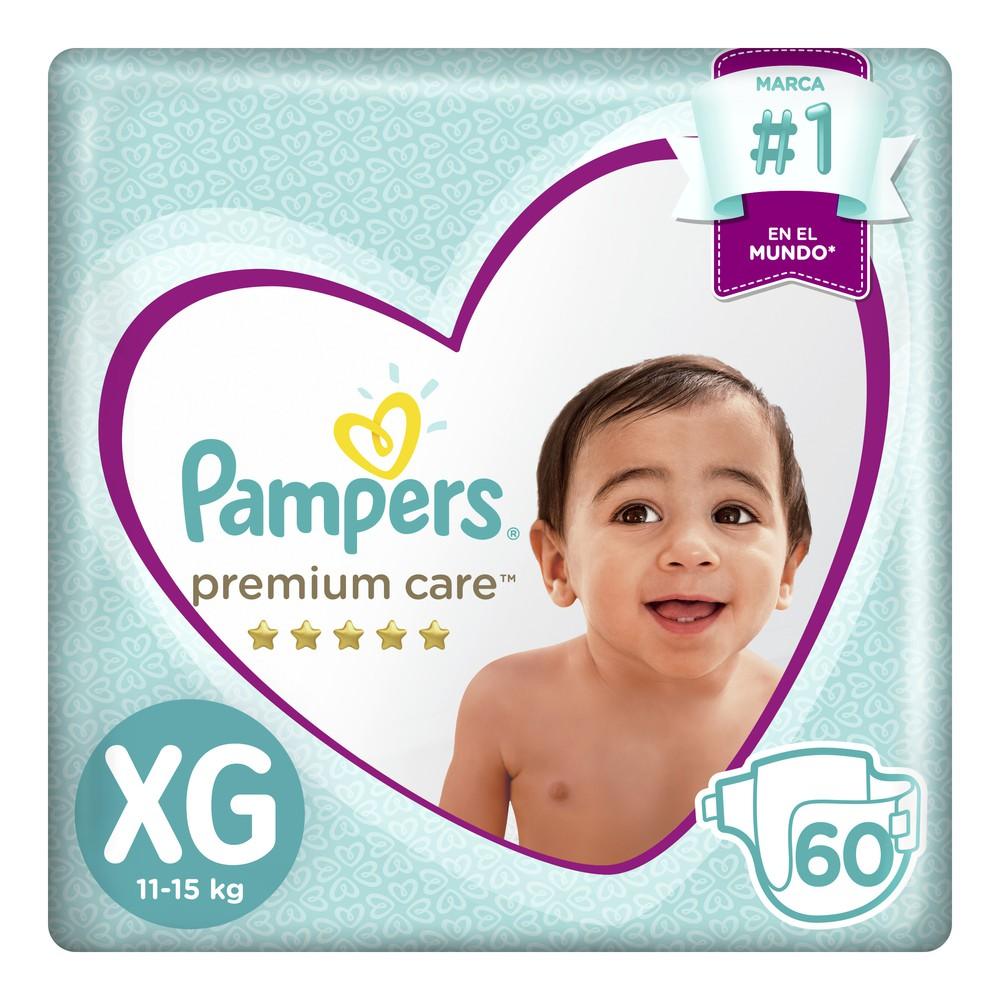 Pañales para Bebé Premium Care Talla XG Megapack Paquete 60un