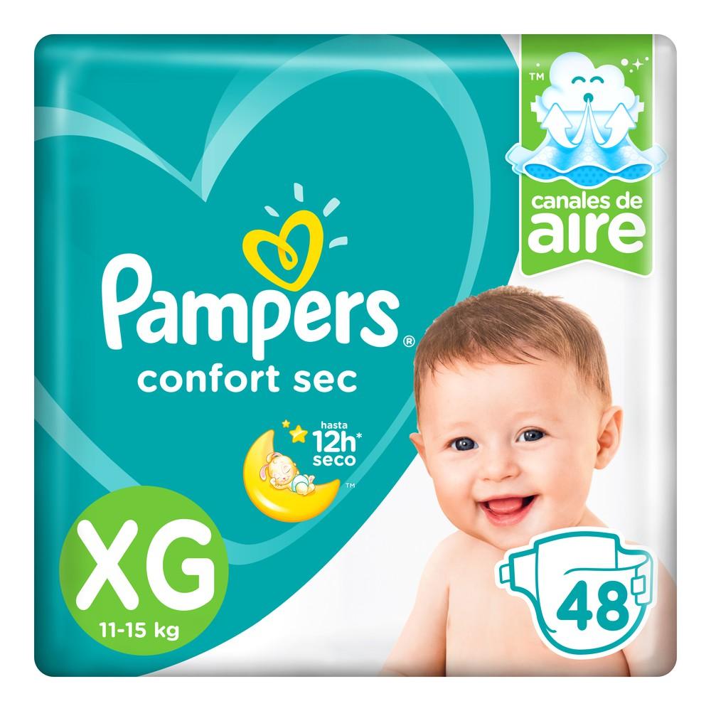 Pañales para Bebé Confort Sec Talla XG Paquete 48un