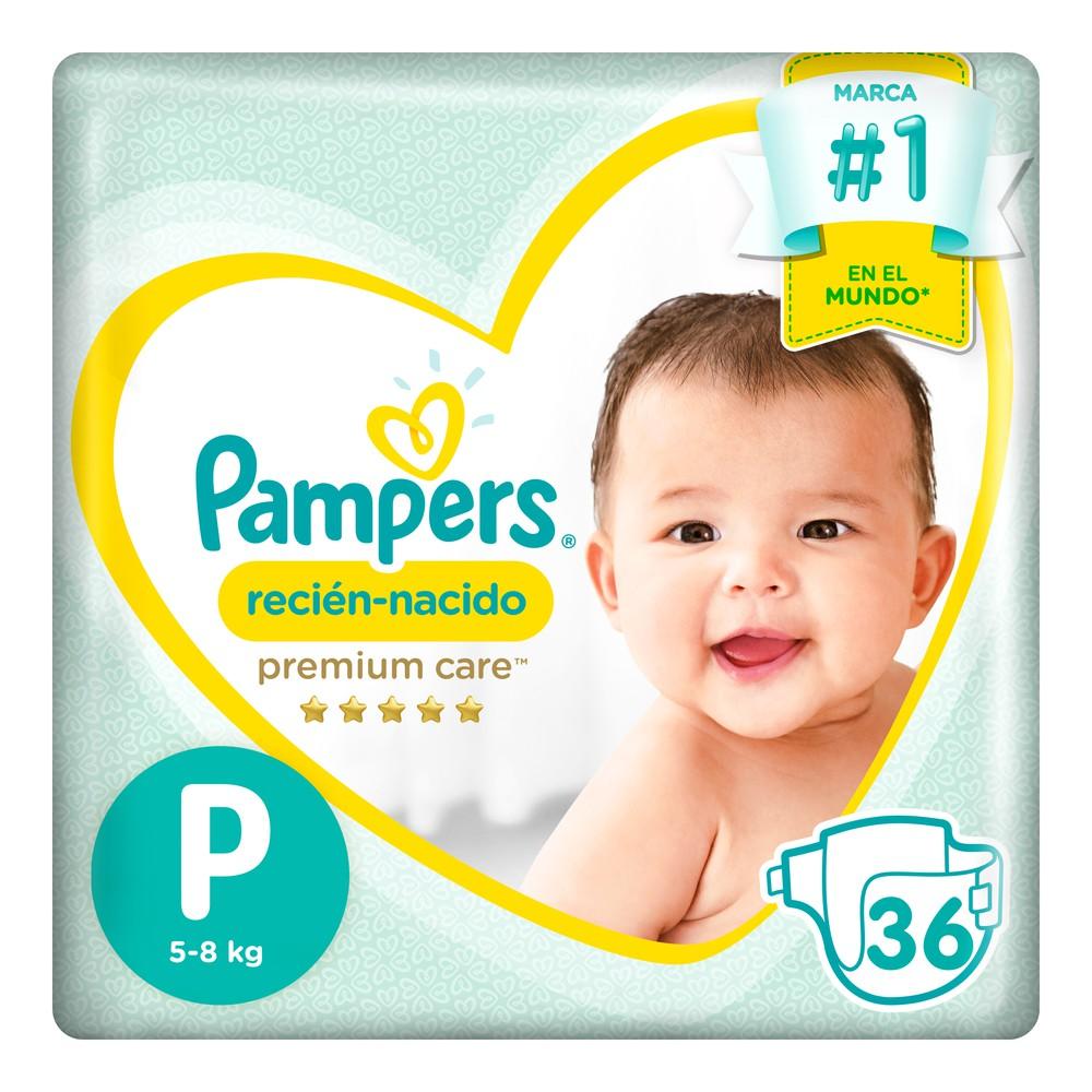 Pañales para Bebé Premium Care Recién Nacido Paquete 36un