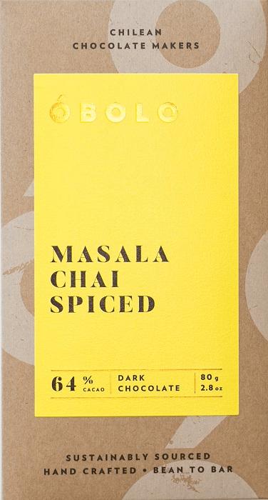 Barra Chocolate  Vegano Masala Chai Spiced 64% Cacao Dark Chocolate Barra 80 g