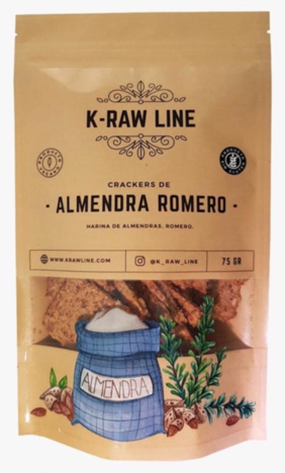 Crackers de Romero y Almendras (vegano) 75 gr Bolsa de 75 gr