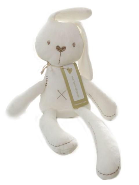 Peluche de conejo blanco de algodón 6x14x35 cms