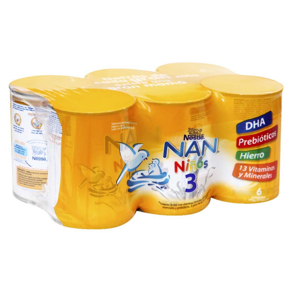 Leche Formulada 3 Niños Pack 6 Unid x 410 g