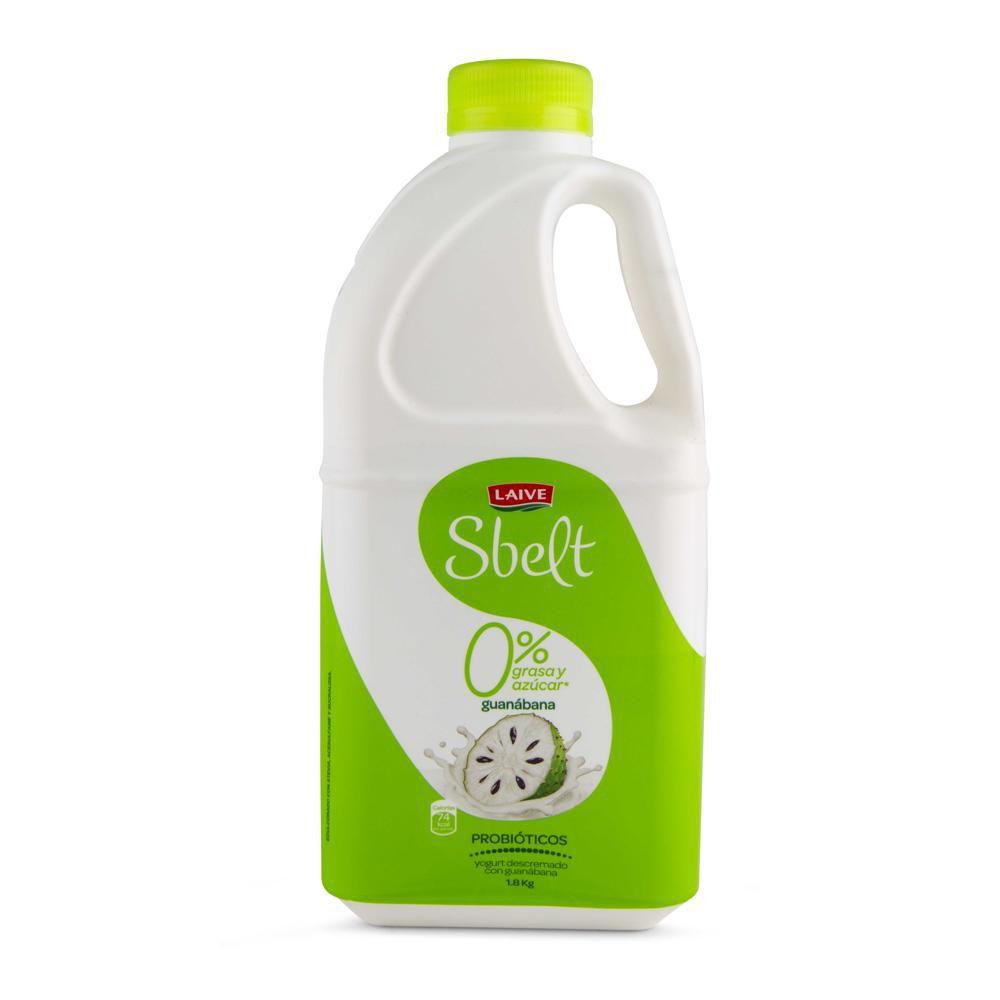 Yogurt probiótico Sbelt guanábana