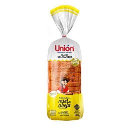 Pan de molde multisemilla y chips miel