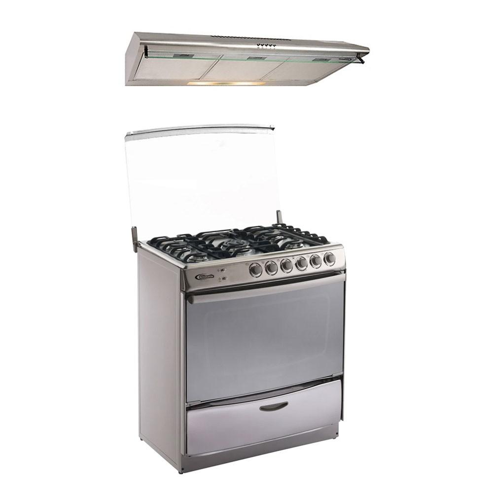 Cocina A Gas Speciale 5 Hornillas Campana Extractora Empotrable