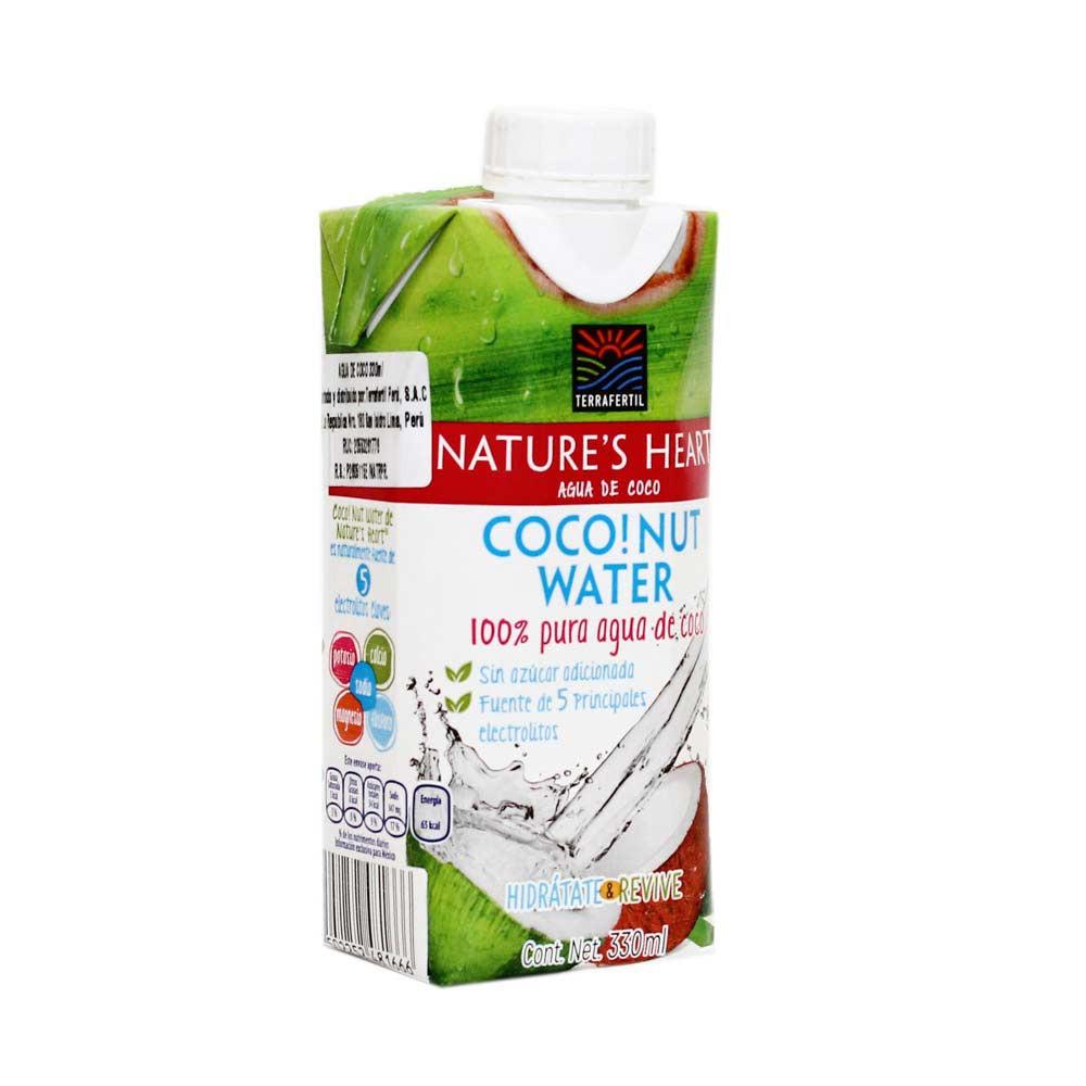 Agua de Coco Nature's Heart Caja 330 ml