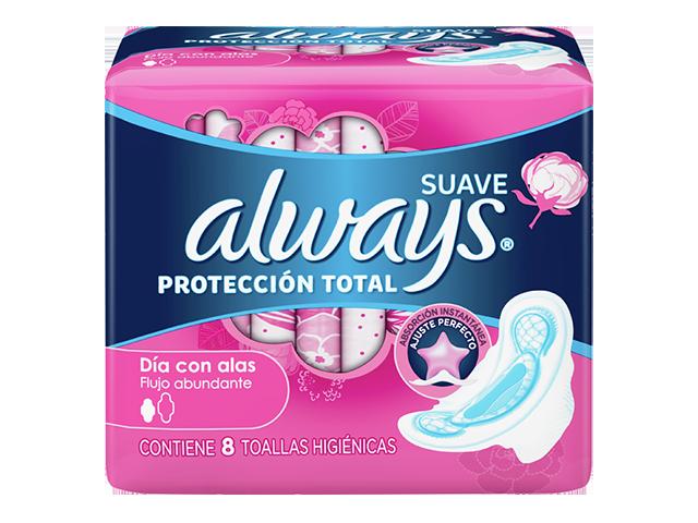 Toallas Higiénicas Always Suave Protección Total Ajuste Perfecto