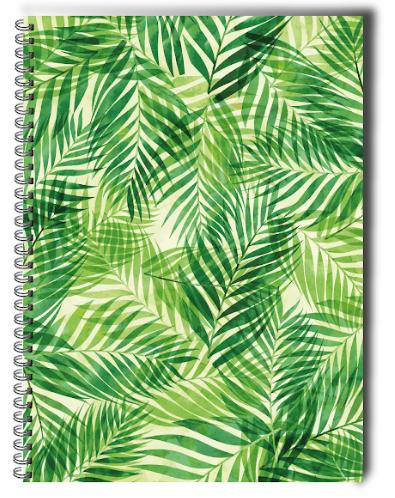 Cuaderno tapa dura hojas verde Dimensiones: 20.0 x 28.0 cm