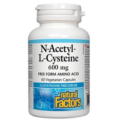 N-Acetyl-L-Cycsteine  600mg 60vcaps
