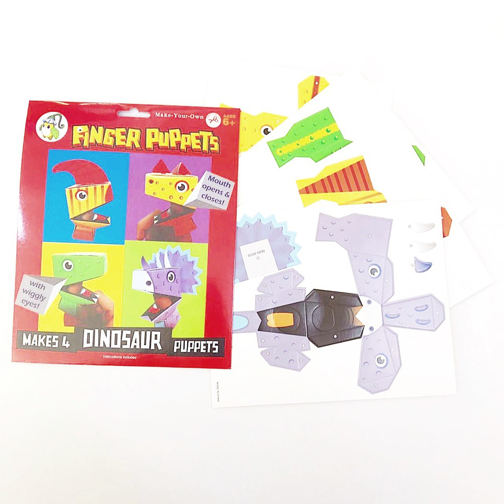 Títeres de dedo para armar dinosaurios