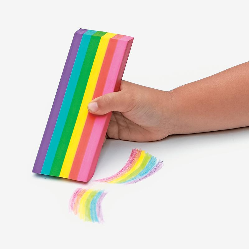 Goma de borrar jumbo - arcoiris