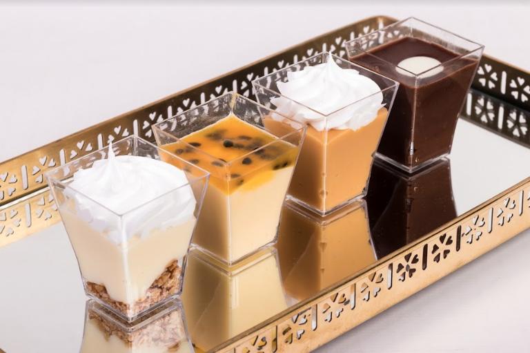 Shot individual Mousse de chocolate