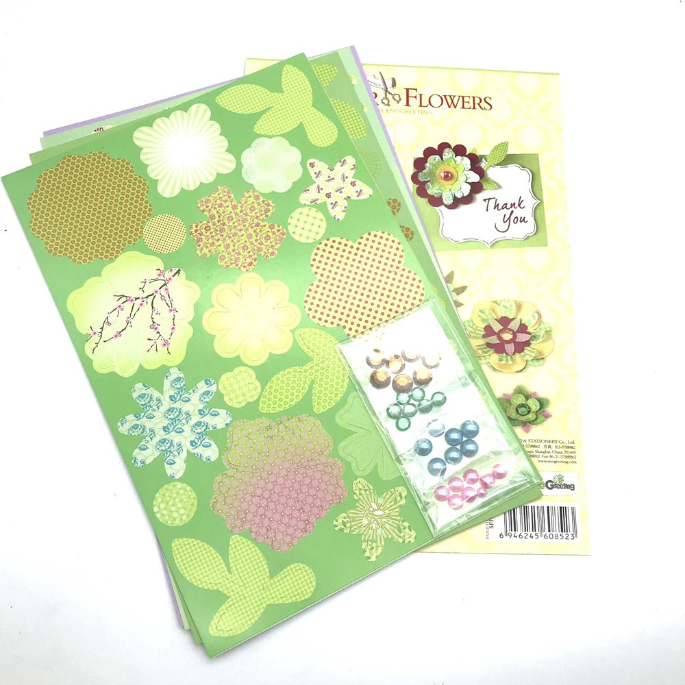 Set de flores para armar verdes