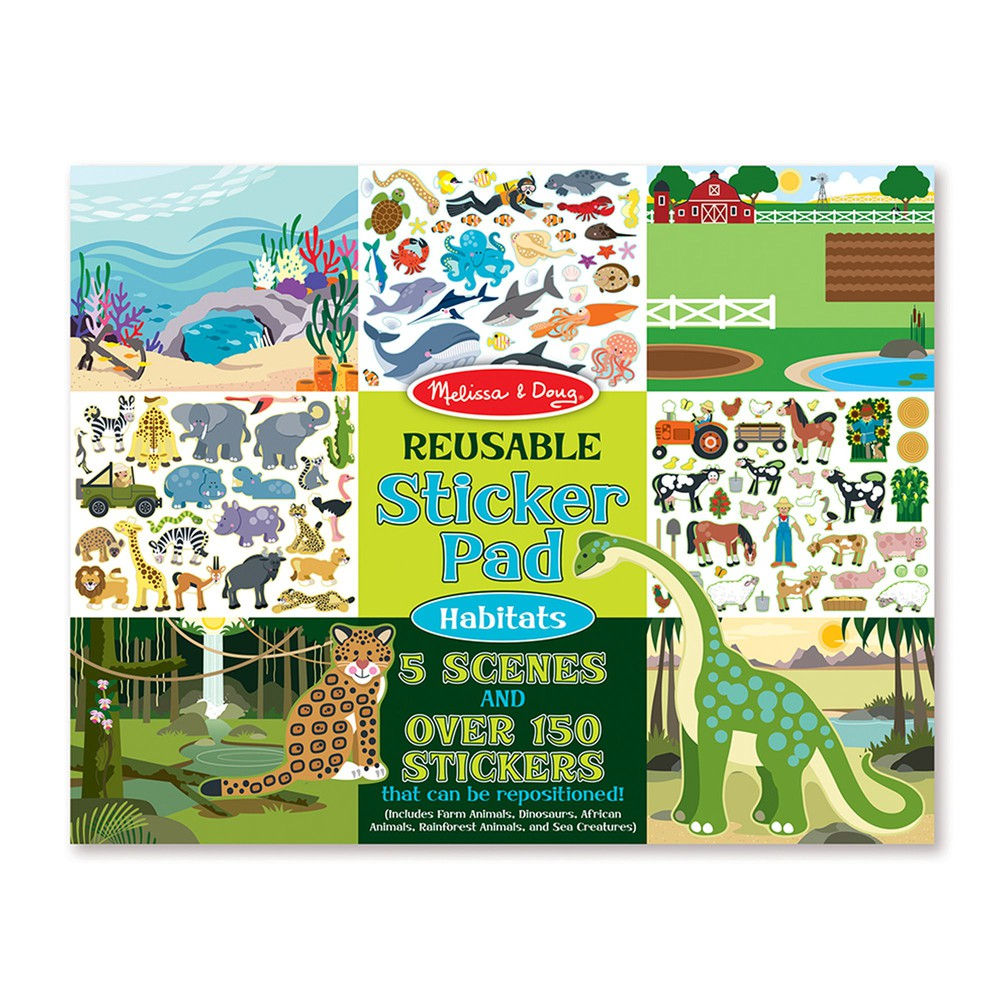 Pad stickers habitats Envoltorio plástico 36 cm x 28 cm x 1 cm, 350 grs.