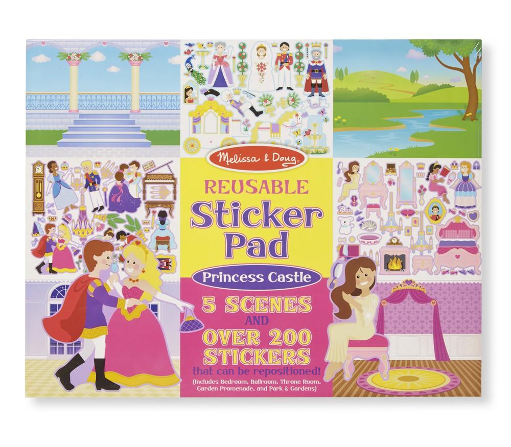 Pad stickers castillo de princesas Envoltorio plástico 36 cm x 28 cm x 1 cm, 350 grs.