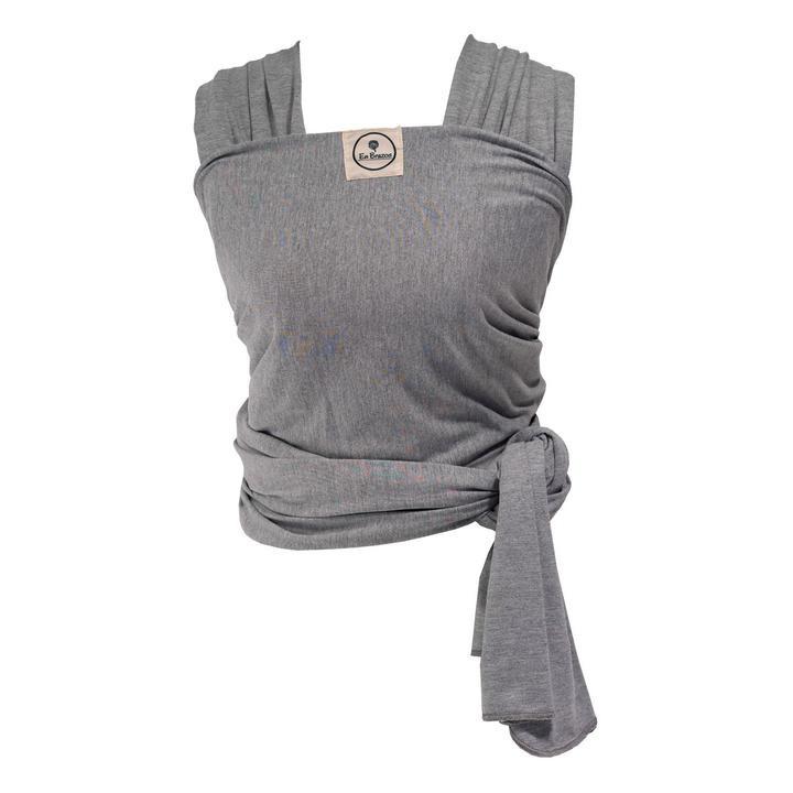 Fular algodón semielasticado gris claro