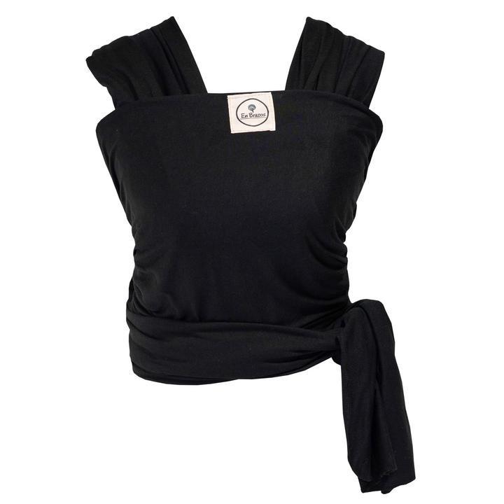 Fular algodón semielasticado negro