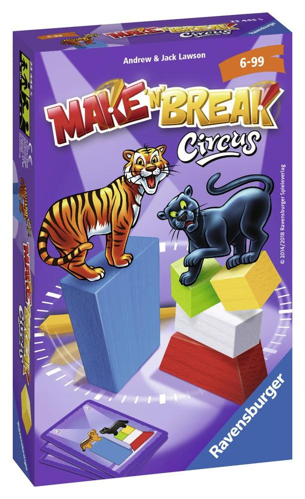Make n break circus Caja 12 cm x 18 cm x 4 cm, 200 grs.