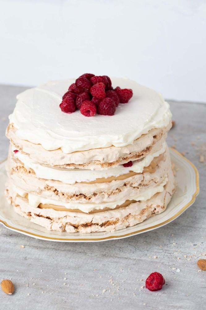 Torta Merengue Crocante Frambuesa 15 personas