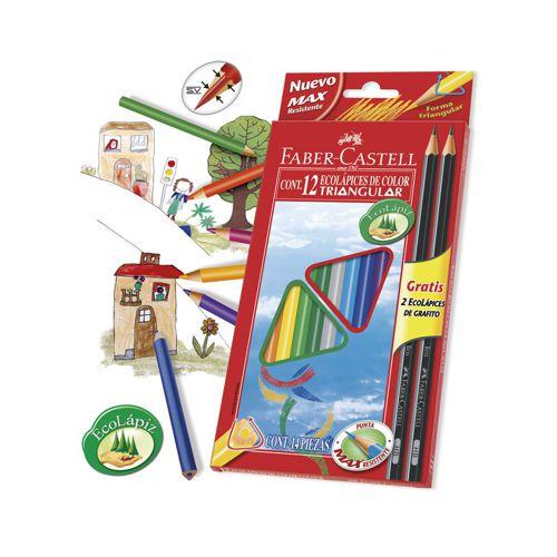 Lápices de colores forma triangular