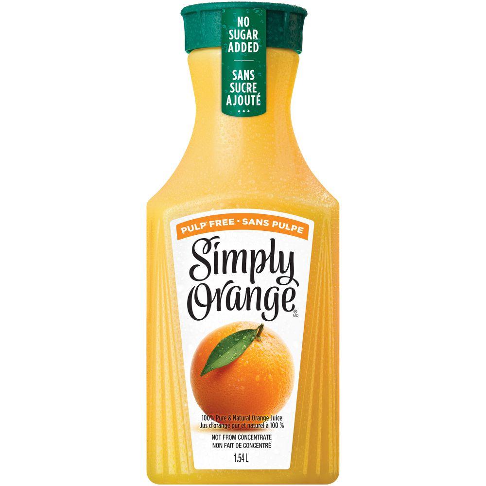 Orange pulp free orange juice