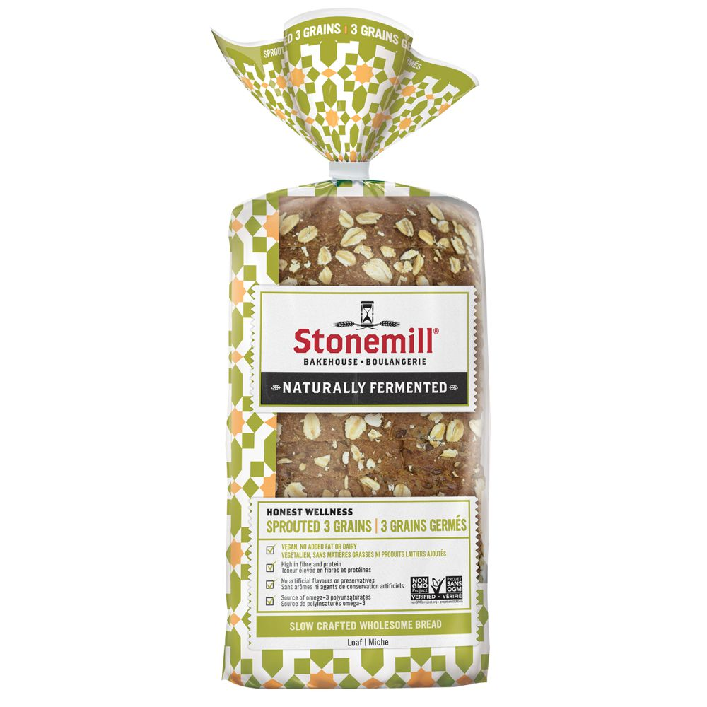 Sprouted 3 grains bread