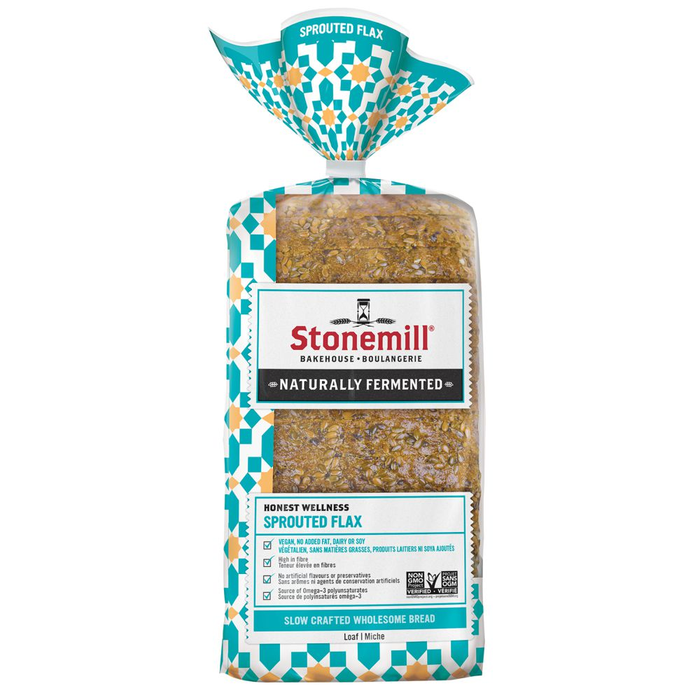 Sprouted flax bread