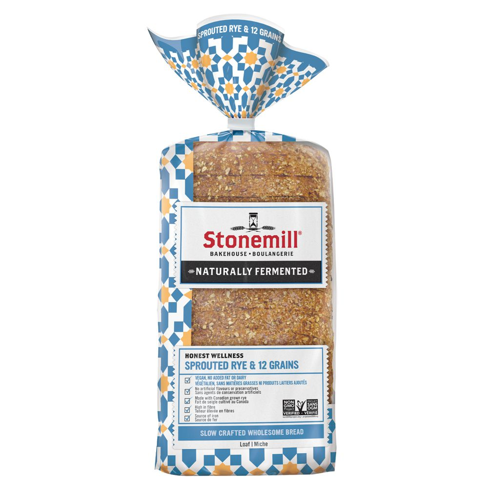 Honest wellness sprouted rye & 12 grains bread