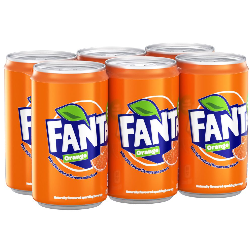Orange sparkling beverage