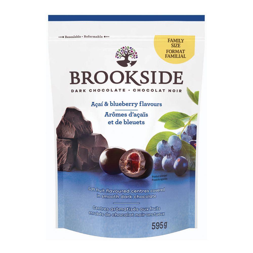 Dark chocolate, acai and blueberry flavour